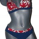 NWT MARYAN MEHLHORN Lidea denim bikini swimsuit 8 C