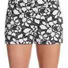 NWT DIANE von FURSTENBERG 12 $245 lace shorts black white embroidered napoli