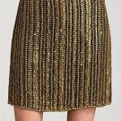 NWT THEORY Calinda BRASS adorned mini skirt $495 6 cocktail party evening formal