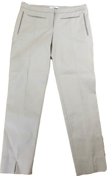 New VERSACE 42 6 pants slacks trousers cropped capris tan Italy couture ankle
