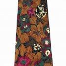 HUGO BOSS designer tie necktie authentic silk fine Italy Fall colors pristine