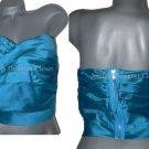 NWT MARC JACOBS 8 strapless corset bustier zipper top draped pinstripe designer