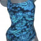 NWT GOTTEX swimsuit 8 maillot slimming tummy control flattering atlantic