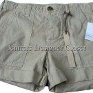 NWT VINCE designer khaki shorts casual 24 $175 cuffed runway soft high-end