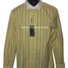 NWT RALPH LAUREN Black Label 16 dress shirt Italy yellow striped $395 tailored