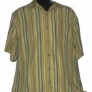 TOMMY BAHAMA M striped Camp Shirt SILK Excellent mens resort bowling