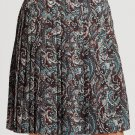 NWT LA VIA 18 Lavia 44 pleated paisley skirt above knee multi color Italy $385