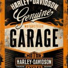 Harley-Davidson Garage, Chopper Motorcycles Logo, Small 3D Metal Embossed Sign
