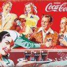 Vintage Drink, 75, Cola 50's Dinner, Cafe Kitchen Old Shop, Small Metal/Tin Sign