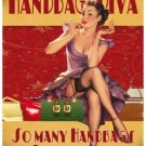Handbag Diva, 50's Pinup, Funny/Humorous, Small Metal/Tin Sign, Picture, Plaque