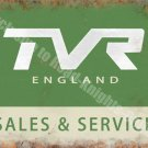 TVR England Sales & Service, Vintage Garage Sports Car, Small Metal/Tin Sign
