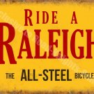 Ride a Raleigh Bicycle, Steel Vintage Cycle Bike Advert, Small Metal/Tin Sign