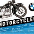 BMW Motorcycles, R17 Vintage Classic Motorbike, Large 3D Metal Embossed Sign