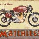 Vintage Garage Matchless Clubman, 120 Motorcyles 60's Bike, Large Metal/Tin Sign