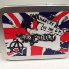 Sex Pistols, Punk Rock Band Music Cigarette Tobacco Storage 2oz Hinged Tin