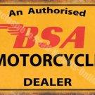 Vintage Garage, 64 BSA Motorcyle Dealer, Old Motorbike Oil, Large Metal/Tin Sign