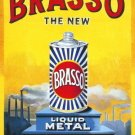 Brasso Metal Polish Old Vintage Advertising Kitchen Garage Medium metal/Tin Sign