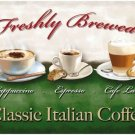 Coffee Cappuccino Espresso Latte Cafe or Restaurant Small Metal/Tin Sign