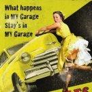 My Garage My Rules, Car Mechanic 50's Pinup, Funny/Humorous Large Metal/Tin Sign