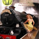 King Edward I, 6024 Steam Train, GWR, Railway, Pin Up Girl, Small Metal/Tin Sign