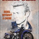 James Dean Rebel Movie Film Star Classic Harley Motorcycle Small Metal/Tin Sign
