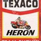 Garage, 49 Texaco Heron Motorcycle, Barry Sheen Race Team, Small Metal/Tin Sign