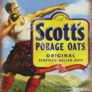 Scott's Porage Oats Breakfast Food Cafe Kitchen Old Shop Small Metal/Tin Sign
