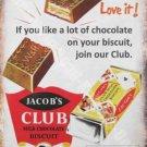Vintage Food, 93, Jacob's Club Chocolate Biscuit Old Shop, Medium Metal/Tin Sign