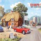 Triumph TR4, Tea Rooms Classic British Sports Car Old Mini Medium Metal/Tin Sign