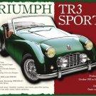 Triumph TR3 Classic British Sports Car Retro Vintage Old Large Metal/Tin Sign