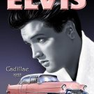 Elvis with a 1955 Pink Cadillac, Classic American Car, Icon Large Metal/Tin Sign
