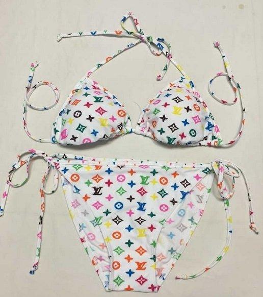 Custom lv bikini - colorful