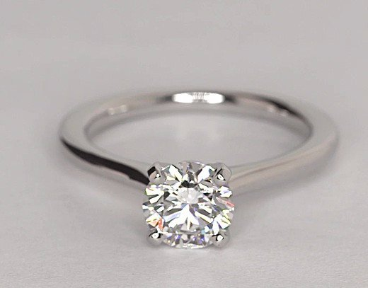 2.00 Ct Simulated Diamond Engagement and Wedding Ring 14k White Gold Over