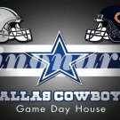 Dallas Cowboys Home Chicago Bears Divided Flag 3ft X 5ft Premium Team Helmet Custom Flags
