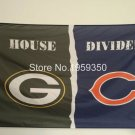 Green Bay Packers vs Chicago Bears House Divided Rivalry Flag 90x150cm