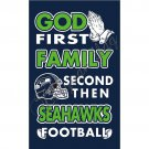 Seattle Seahawks flag God First Family flag Second then Seattle football flag 3x5 FT
