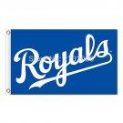 Royals Text Design KC Kansas City Royals Flag Baseball Fans Team Banners 3x5 FT