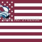 Colorado Avalanche Ice Hockey Sports Star Stripe National Team Flag 3ft X 5ft