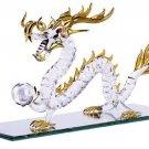 30306 Golden Accented Glass Dragon Ceramic Treasures