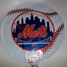 "18"" NEW YORK METS MAJOR LEAGUE BASEBALL FOIL HELIUM MYLAR BALLOON FREE SHIPPING"