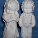CUTE BRIDE & GROOM Ready-to-Paint Ceramic Bisque