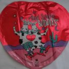 "18"" VALENTINE BOOT SCOOTIN BUDDIES LOVE MYLAR BALLOON FREE SHIPPING"