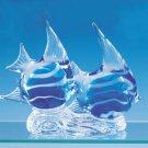 23764 ~ Handmade Glass Double Angel Fish ~ Ceramic Treasures