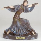 29652 ~ Alabastrite Art Deco Lady Dancer ~ Ceramic Treasures