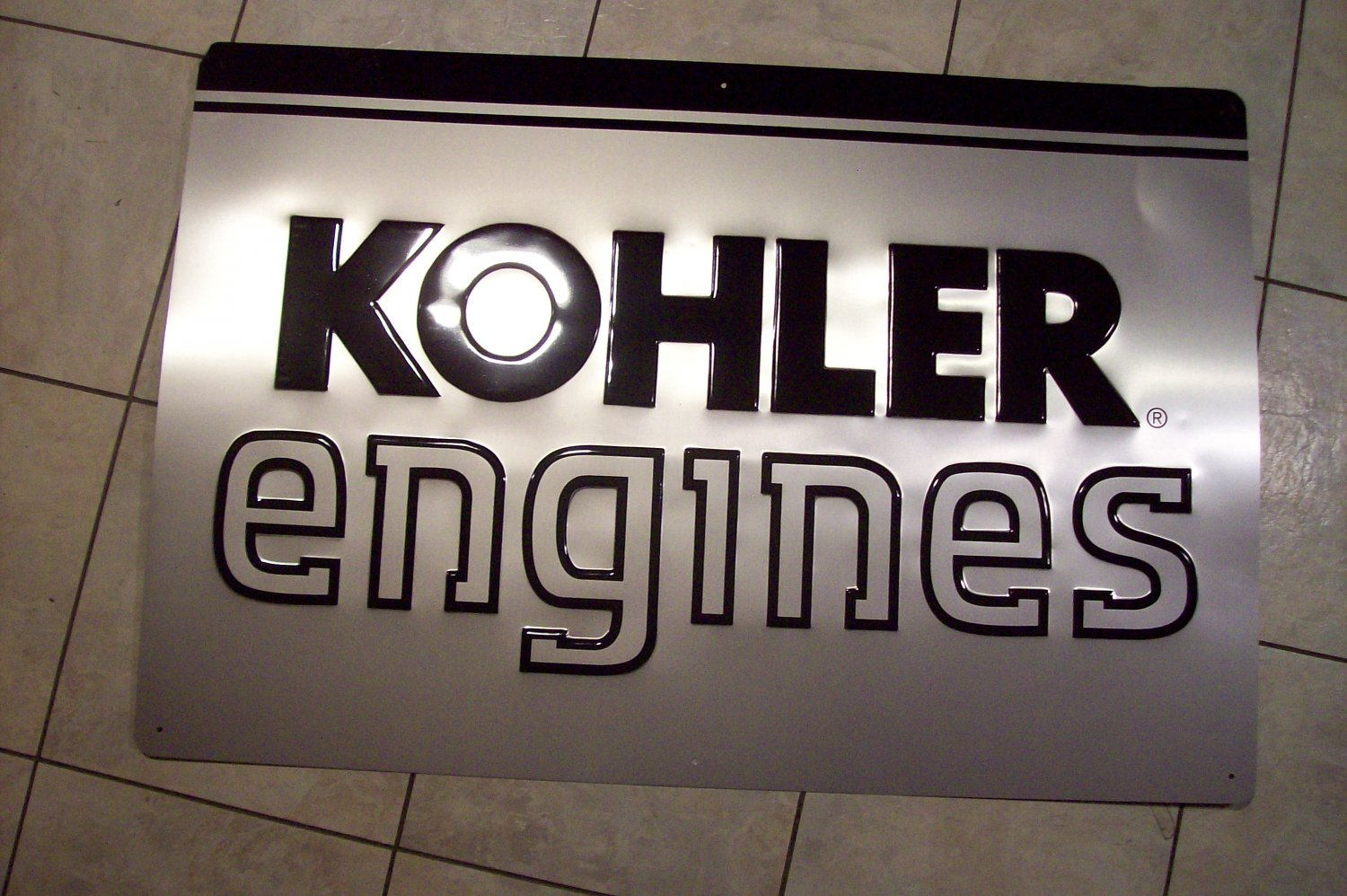 KOHLER Engine ADVERTISING METAL SIGN Industrial Metal Cool Unusual