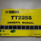 Vintage 1986 Yamaha TT225 Owners Manual TT 225 TT225S Owner's