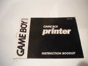 GameBoy Printer Insruction Book Used Game Boy Games