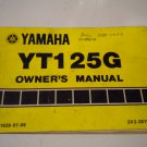 1980 YT125G Owners Manual Owner's Literature YT125 G