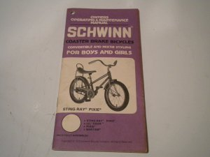 Vintage 1979 SCHWINN Sting Ray / Pixie / Lil Tiger / Bantam Owners Manual Owner's