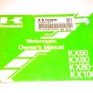 Kawasaki KX60 / KX80 / KX80-II / KX100 Owners Manual Owner's Guide